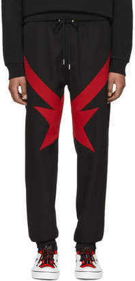 Givenchy Black and Red Stripes and Stars Trousers