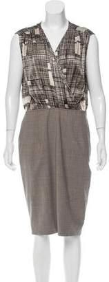 Rachel Roy Silk Abstract Print Dress w/ Tags $145 thestylecure.com