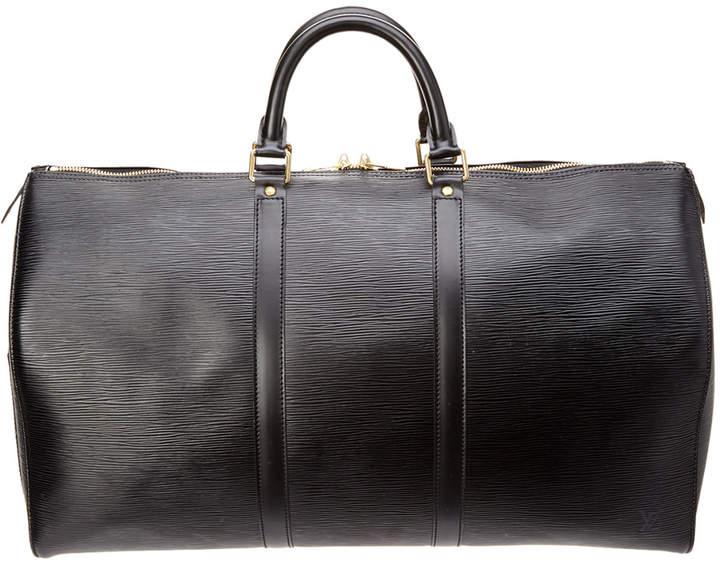 Louis Vuitton Black Epi Leather Keepall 50