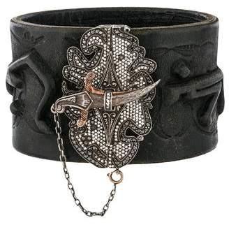 Sevan Biçakci Diamond Dagger Leather Bracelet