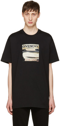 Givenchy Black Logo Graphic T-Shirt $440 thestylecure.com