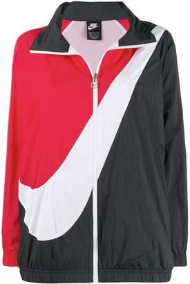 Nike logo colour block track jacket