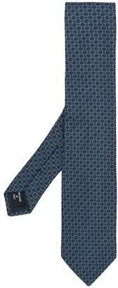 Giorgio Armani geomtetric patterned tie