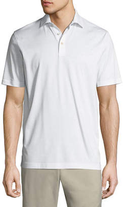 Peter Millar Crown Ease Solid Lisle-Knit Cotton Polo Shirt