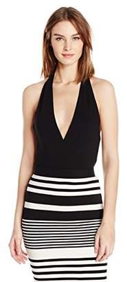 Halston Women's Bianca Ribbed Jersey Bodysuit