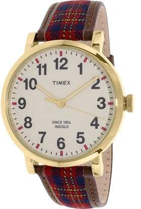 Timex Men's Heritage TW2P69600 Multi Brown Leather Quartz Dress Watch