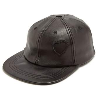 Heart-detail leather cap Saint Laurent slbBT4HVb