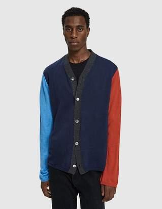 Comme des Garcons Color Blocked Cardigan