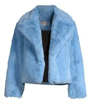Diane von Furstenberg Faux Fur Short Jacket