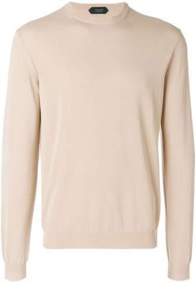 Zanone slim fit crewneck sweater