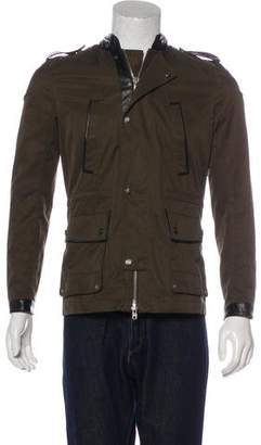 The Kooples Leather-Trimmed Field Jacket