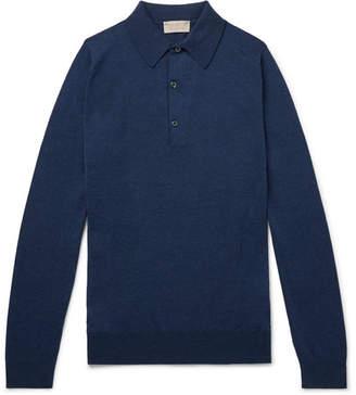 John Smedley Lanlay Slim-Fit Sea Island Cotton And Cashmere-Blend Polo Shirt