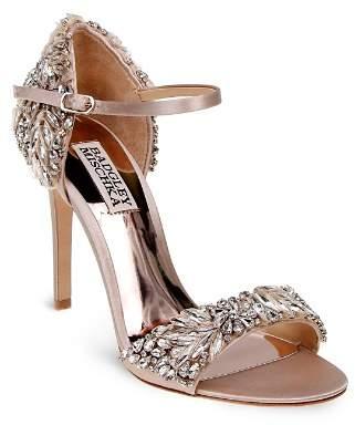 Badgley Mischka Tampa Embellished d'Orsay Ankle Strap Sandals