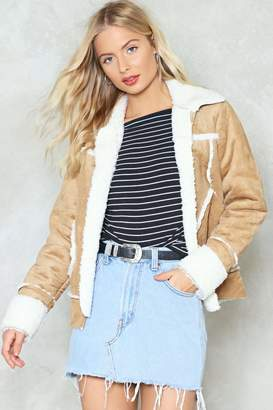 Nasty Gal Baby It's Cold Outside Faux Shearling Jacket