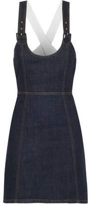 ALEXACHUNG Cutout Denim Mini Dress
