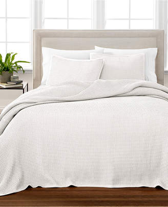 Martha Stewart Collection Waffle Full Bedspread