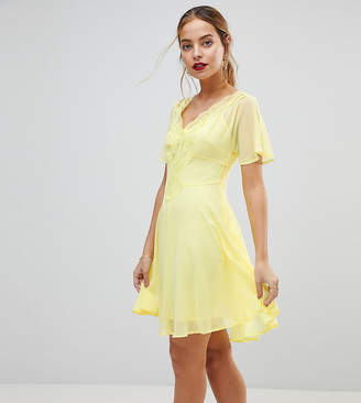 Asos Skater mini dress with Lace Insert