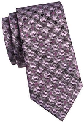 Geoffrey Beene Rock Star Geometrical Print Silk Tie