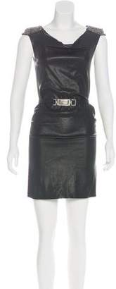 Jitrois Leather Embellished Dress