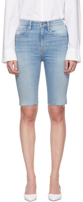Frame Blue Denim Le Vintage Bermuda Shorts