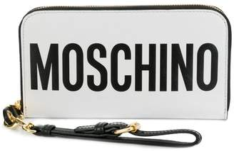 Moschino zip-around logo wallet