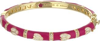 Ralph Lauren G. Adams G Adams Goldtone Enamel Bangle with Ladybug Design