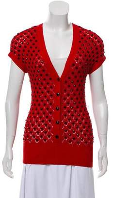 Marc by Marc Jacobs Embellished Open-Knit Cardigan
