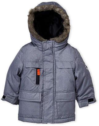 Osh Kosh B'gosh (Infant Boys) 2fer Flannel Vest-Lined Hooded Jacket