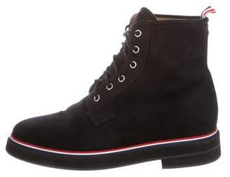 Thom Browne Canvas Cap-Toe Ankle Boots