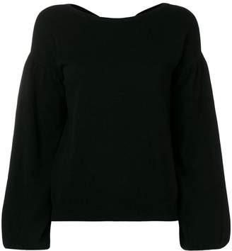 Allude V-neck fine knit sweater