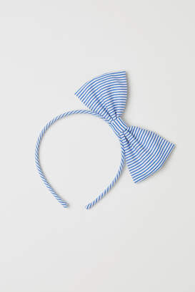 H&M Hairband with Bow - Blue