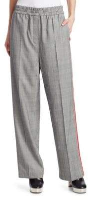 Calvin Klein Wide-Leg Wool Check Pants
