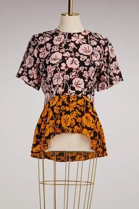 Kenzo Silk Short Sleeve Top