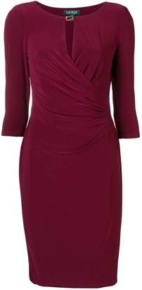 Ralph Lauren ruched fitted dress