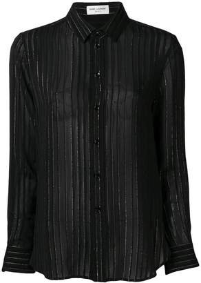 Saint Laurent metallic striped shirt