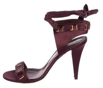Viktor & Rolf Satin Tie Sandals
