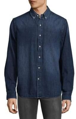 Joe's Jeans Denim Print Cotton Button-Down Shirt