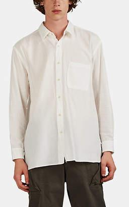 Sage De Cret Men's Washed Cotton Twill Shirt - White