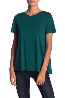Susina 14th & Union Shirred Mixed Media T-Shirt (Regular & Petite)