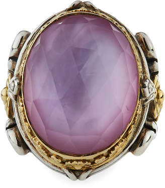Konstantino Large Doublet Oval Ring, Size 7