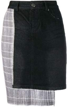 Each X Other asymmetric checked skirt