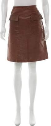 3.1 Phillip Lim Leather Knee-Length Skirt
