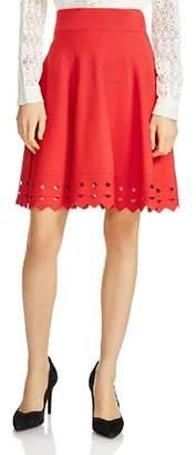 Maje June Cutout-Hem Skirt
