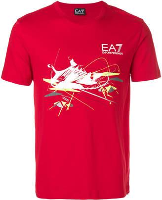 Emporio Armani Ea7 sneaker logo print T-shirt