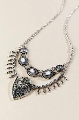 francesca's Eva Boho Statement Necklace - Silver