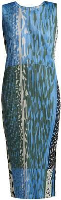 Pleats Please Issey Miyake Animal-print pleated dress