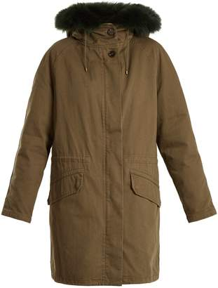 Yves Salomon ARMY Fur-lined high-neck twill parka