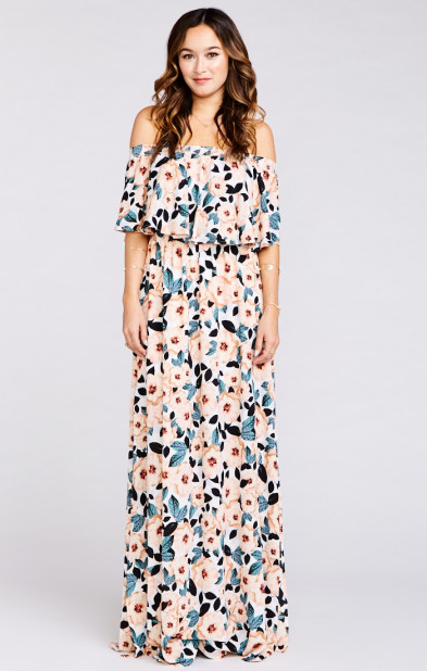 Hacienda Maxi Dress ~ Steel Magnolia
