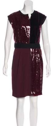 Marc Jacobs Sequin & Velvet Accented Cocktail Dress