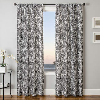 SOFTLINE HOME FASHIONS Sedro Floral Faux-Silk Rod-Pocket Curtain Panel